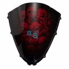 Airbrushed Red Skull Windscreen Windshield For Honda Fairing motorcycle BS