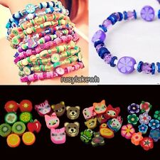 100 PCS Clay Beads DIY Slices Mixed Color Fimo Polymer Clay RLWH01