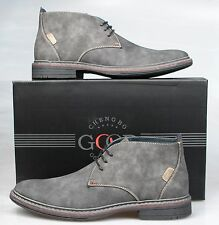 Mens / Gents Leather Lined Desert Ankle Boots. Lace Ups Size UK 6 7 8 9 10 11 12
