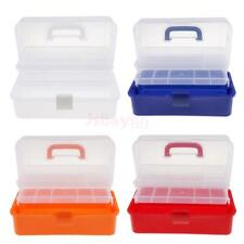 3 Tiers Plastic Storage Box Nail Art Craft Makeup Organizer Tool Container Case