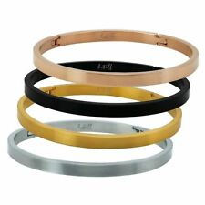 B.Tiff Stainless Steel Bangle Bracelet Silver Gold Rose Black Stack with others