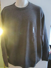 NWT Mens Sweater by Dockers, Gray Crewneck Size XL OR XLL