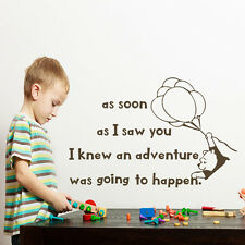 As soon as I saw you Quote Wall Decal Winnie Pooh Vinyl Sticker Home Decor aa226