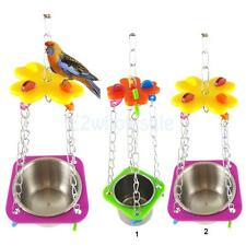 Multi-purpose Bird Parrots Hanging Feeder Food Container Colorful Tree Swing Toy