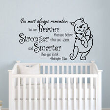 Winnie the Pooh Wall Decal Kids Quote Vinyl Sticker Decal Nursery Decor ZX199