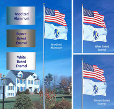 SunSetter 20 Ft. Telescoping Flagpole with Free American Flag (Factory Direct)