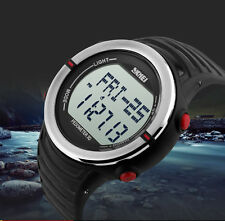 Sports Digital Watch with Pedometer Heart Rate Function Water Resistant