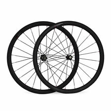 700C 38mm deep 23mm Width Clincher Tubular Road bike Bicycle Carbon Wheels