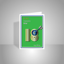 Personalised sporty 18th Happy Birthday Card for boy son nephew grandson brother
