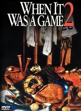 WHEN IT WAS A GAME 2-BRAND NEW SEALED DVD HBO BASEBALL DOCUMENTARY FREE SHIPPING