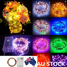 2-10M 20-100 LED Copper Wire  Battery Operated String Light Wedding Party Decor