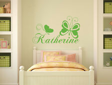 Personalized Name Wall Decal Butterfly Vinyl Sticker Decal Nursery Bedroom aa205