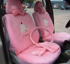 New Hello Kitty and Black Car Seat Covers Steering Wheel Cover 18 PCs
