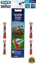 Braun Oral-B Power Stages Brush Heads For Electric Toothbrush Disney 2 Pack Kids