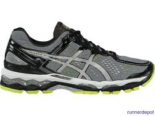 NEW Asics Gel Kayano 22 Men's Running Shoes CHARCOAL/SILVER/LIME NEW IN BOX