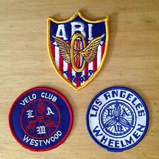 NOS VTG Embroidered Cycling Patches Amateur Bicycle League LA Wheelmen Velo Club
