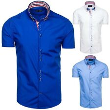 BOLF Men's Leisure Shirt Short-sleeved Slim Fit Polo Classic 2B 2 Casual
