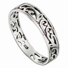 celtic ring traditional filigree silver thumb finger 925 sterling silver