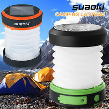 Solar Panel Camping LED Lantern Rechargeable Collapsible Hiking Night Light Lamp