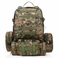 Outdoor 4 In 1 55L Hiking Camping Bag Army Military Tactical Rucksacks Backpack