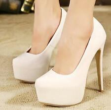 Sexy fashion Pumps Womens High Heels Patent Leather Round Toe Platform Shoes