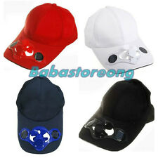 Sporting Solar Wind Power Hat Cap Cooling Cool Fan F Golf Outdoor Hiking LY