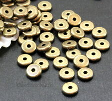 Heishi Disk Beads, Tierracast, 6 mm Spacers, Antique Brass, 20/100 Pieces, 4227