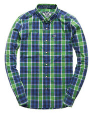 New Mens Superdry Washbasket Button Down Shirt Rare Lime Check