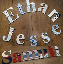 Boys Personalised Wooden Bedroom Nursery Wall Toy Box Letters Christening Gift