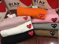New Men's Comme Des Garcons CDG Play Heart Short Sunner Womens T-shirts 6colors