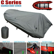 Seamax Inflatable Boat Cover, C Series for Beam 5.3-5.7ft, Length 9.9-13.8ft