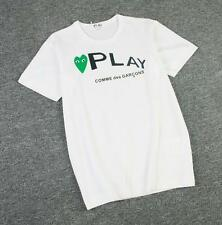 New Men's Comme Des Garcons CDG Play Letter Green Heart Short  Women's T-shirts
