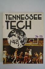Vintage Basketball Media Press Guide Tennessee Tech University 1974 1975