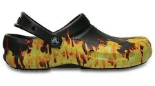Crocs Bistro Graphic Work Clog Flames 8 9 10 11 12 13 14 15 Slip-resistant NWT