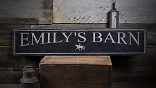Horse Stable, Horse Stall, Custom - Rustic Distressed Wood Sign ENS1000896