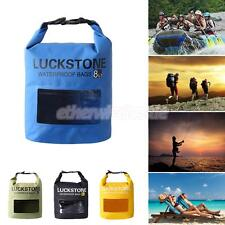 8L PVC Waterproof Dry Bag Sack Water Resistant Pouch for Rafting Kayaking Canoe