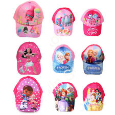 New Girls Baseball Trolls Moana Frozen Kids Swim Sun Cartoon Hat Beach Caps