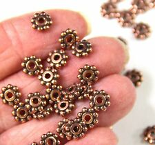 Heishi Disk Beads, Tierracast, 6mm Spacers, Antique Copper, 20/100 Pieces, 0718