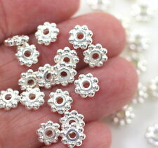 Heishi Disk Beads, Tierracast, 6mm, Spacers, Silver Plate, 20/100 Pieces, 0712
