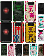 RUGGED TRI-SHIELD DESIGN CASE COVER STAND FOR MOTOROLA DROID MAXX/ULTRA XT1080-M
