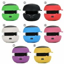 Mini Portable Hamburger USB Stereo Speaker 3.5mm For Tablet Cell Phone PC Laptop