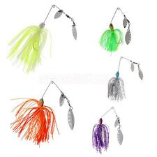 Fishing Lure Spinnerbait Bass Pike Trout Salmon Hard Metal Jig Spinner Baits