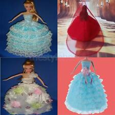 MagiDeal Wedding Dress Party Clothes Gown for Disney Princess Barbie Dolls Gift