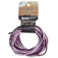 Satin Rattail Cord 2mm Lilac Purple Mix 4 Color 3 Yd Ea