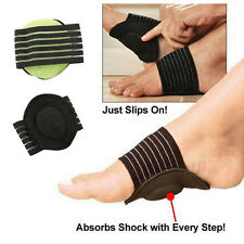 2X Comfortable Cushioned Arch Supports Pads Shoe Insoles Foot Pad Flat Arch Mat