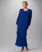 Elegant Mother Of The Bride Dresses Crystals Formal Gowns Plus Size New Layered