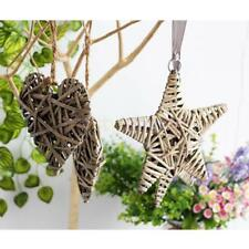 MagiDeal Wicker Home Wall Outdoor Garden Party Hanging Décor Round/Heart/Star
