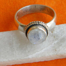 MOON STONE SOLID 925 STERLING SILVER HANDMADE CUSTOM RING SIZE 5,6,7,8,9,10