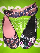 NEW Crocs Kadee Graphic Ballet Flats Womens Size 7 • FLORAL or TROPICAL • NWT