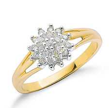Diamond Ring Diamond Cluster Ring Yellow Gold Ring Engagement Ring 0.25ct